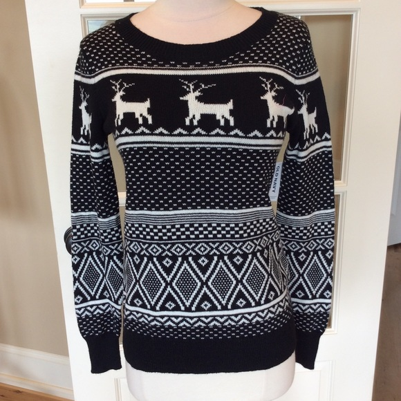 Old Navy Sweaters Christmas Sweater Pullover Womens S New Poshmark